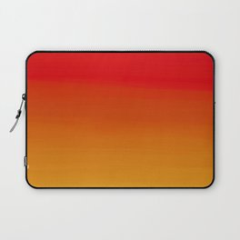 Red Apple and Golden Honey Ombre Sunset Laptop Sleeve