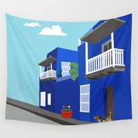 colombia Wall Tapestries featuring Colombia  by Design4u Studio