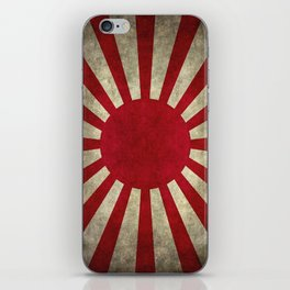 Imperial Japanese Army Ensign Flag - Vintage retro version iPhone Skin