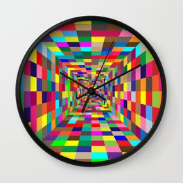 Colorful 6 Wall Clock