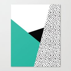 Geometric Modern Triangles with Spots Canvas Print