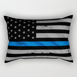 Thin Blue Line Rectangular Pillow