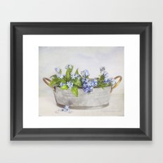 forget-me-not Framed Art Print