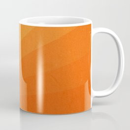 Shades of Sun - Line Gradient Pattern between Light Orange and Pale Orange Coffee Mug