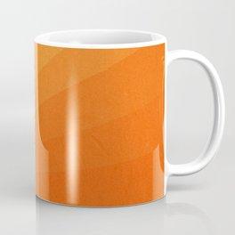 Shades of Sun - Line Gradient Pattern between Light Orange and Pale Orange Coffee Mug