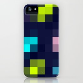digital square / neon pixels iPhone Case