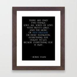 Boris Vian Framed Art Print