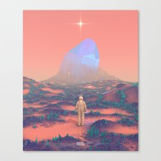 Lost Astronaut Series #02 - Giant Crystal Canvas Print