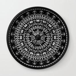 Licorice Mandala Wall Clock