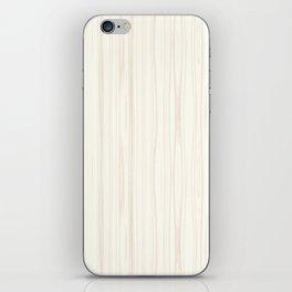 White Wood Texture iPhone Skin