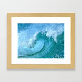 Florida Wave Framed Art Print