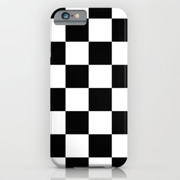 Large Checkered - White and Black iPhone Case