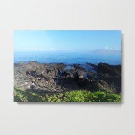 Land reaching to Sea Metal Print