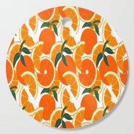 Orange Harvest - White Cutting Board
