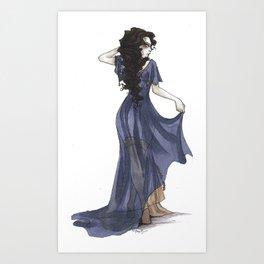 Lady Sybil Burrows Art Print