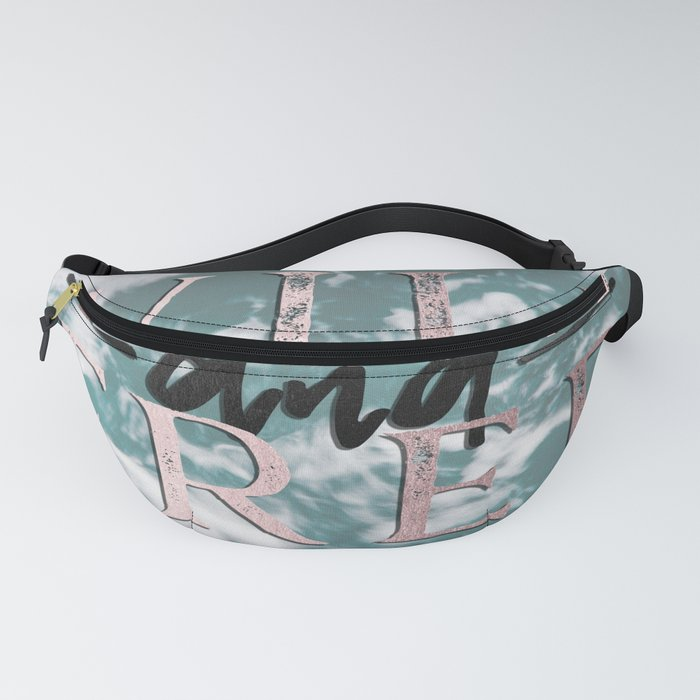 Wild and Free Waves in Rose Gold Fanny Pack