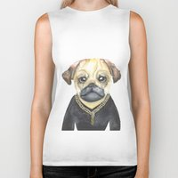 gangster Biker Tanks featuring Dog Gangster by Lucie Sperry