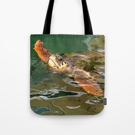 Hands Up For A Plastic Free Ocean Loggerhead Turtle Tote Bag