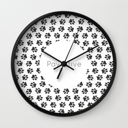 Pawsitive - dog lover animals pattern Wall Clock