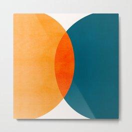Mid Century Eclipse / Abstract Geometric Metal Print