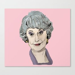 Dorothy Zbornak from The Golden Girls (Pink) Canvas Print