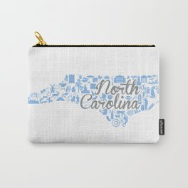 UNC North Carolina State - Blue and Gray University of North Carolina Design Carry-All Pouch