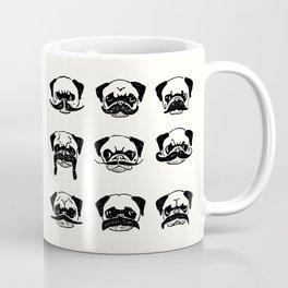 Moustaches of The Pug Coffee Mug