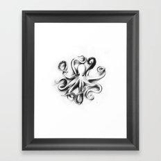 Flat Octopus Framed Art Print