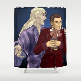 Herbert and Alfred Shower Curtain