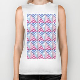 Symetric triangle 1 -vichy, gingham,strip,triangle,geometric, sober,tartan,mandala Biker Tank