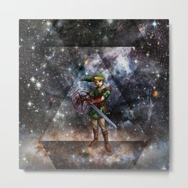 ZELDA TRIANGEL SPACE Metal Print