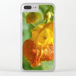 Orange Snapdragon Clear iPhone Case