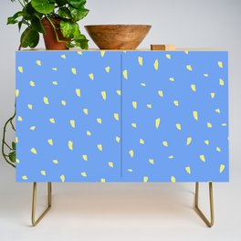 Animal Spots Blue and Yellow Credenza