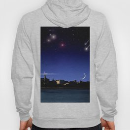 Lighthouse over the city. Hoody