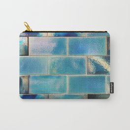 Iridescent tile wall in Lisbon, Portugal - Travel photography Carry-All Pouch