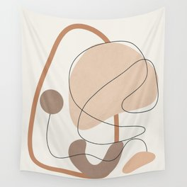 Abstract Line Movement III Wall Tapestry