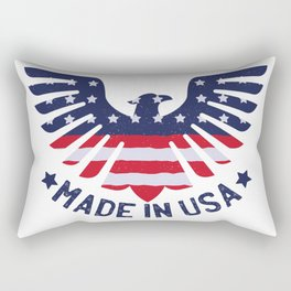 4th Of July Independence Day American Eagle Rectangular Pillow