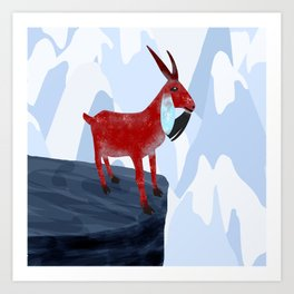 Mountain Goat Design Art Print