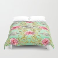 angels Duvet Covers featuring Angels by Victoria Obscure