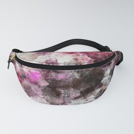 Modern Abstract Painting in Purple and Pink Tones Fanny Pack