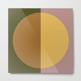 Color Block Abstract IX Metal Print