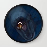 fishing Wall Clocks featuring fishing by Ersen-T
