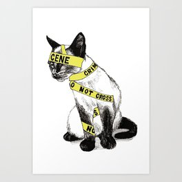 Cat Tape Art Print