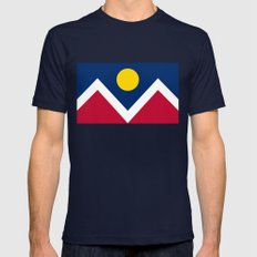 Denver (Colorado) city flag - Authentic version Mens Fitted Tee MEDIUM Navy