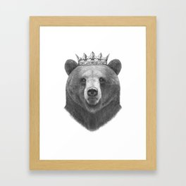 King bear Framed Art Print