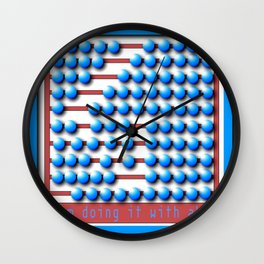 Abacus calculator Wall Clock