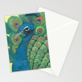 Proud Watercolor Peacock Stationery Cards