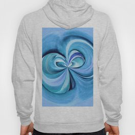 348 - Abstract Plant design Hoody