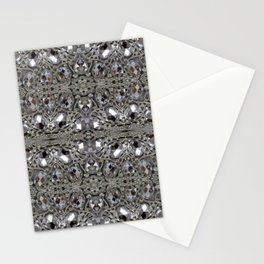girly chic glitter sparkle rhinestone silver crystal Stationery Cards