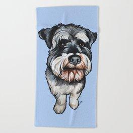 Barney the Miniature Schnauzer Beach Towel